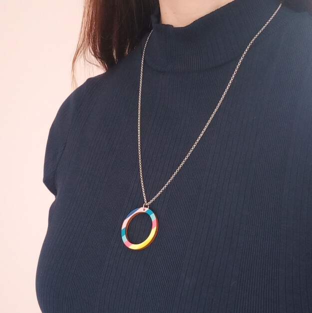 Colourful Wooden Necklace Unique Ella Sustainable Jewellery