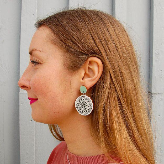 Wooden Sweethearth Stud Earrings in Unique Ella Jewellery